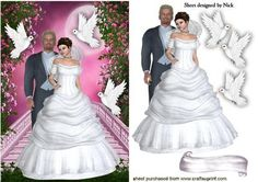 OUR BEAUTIFUL DAY WITH FANTASY AND WHITE DOVES on Craftsuprint - Add To Basket!