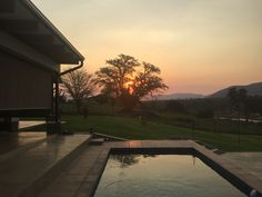 Sun set at Kambaku River Lodge