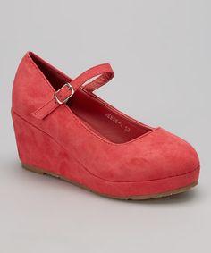 Look at this #zulilyfind! Coral Jesse Wedge by Ruby Shoes #zulilyfinds