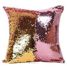 FairyTeller Double Color Glitter Sequins Throw Pillow Case Cafe Home Decor Cushion Covers Capa De Almofada Quality First Decorative Pillow Cases, Decorative Cushions, Throw Pillow Cases, Throw Pillows, Cover Pillow, Diy Pillows, Cushions On Sofa, Pillow Ideas, Sofa Bed