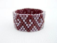 Peyote Ring Currant Band Beadwork Beaded Delica Seed Bead. $14,00, via Etsy.