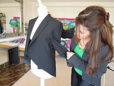 HOW TO MAKE A TAILCOAT JACKET FROM A MAN'S BLAZER  Or my own old blazer!