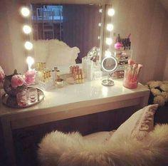 Sector de maquillaje para el vestidor