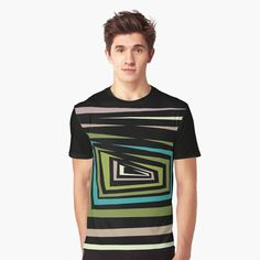 'Multi-color Abstract design ' Graphic T-Shirt by SeminaByRoselia My T Shirt, Vivid Colors, Female Models, Shirt Designs, Abstract, Printed, Awesome, Mens Tops, How To Wear