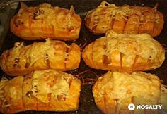 Sweet potatoes with bacon and cheese Diabetic Recipes, Diet Recipes, Healthy Recipes, Recipies, Baked Potato, Sweet Potato, No Bake Cake, Food And Drink, Veggies