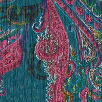 1 1/4 yards of Paisley Passions Crinkle Pinstriped Georgette  P  GorgeousFabrics.com
