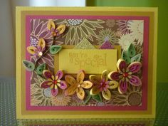 "Handmade Greeting Paper Quilling Card ""You're special"" by FromQuillingWithLove."
