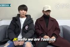 taekook annoucing themselves~