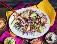 """Spring Roll Salad with Coconut-Peanut Sauce - this recipe comes courtesy of Colleen Patrick-Goudreau, Author of """"The 30-day Vegan Challenge."""""""