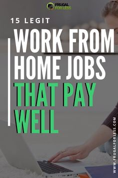 15 legit work from home jobs that pay well. Make money from home as a stay at home mom, student or someone just looking to bring in some extra cash through a small side hustle. Work from Home Jobs Earn Money From Home, Earn Money Online, Way To Make Money, Making Money From Home, Quick Money, Money Today, Money Fast, Free Money, Legit Work From Home
