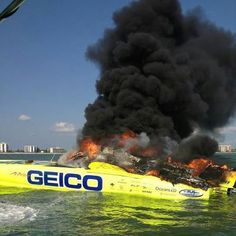 Hmm...Was the Gecko driving this boat?