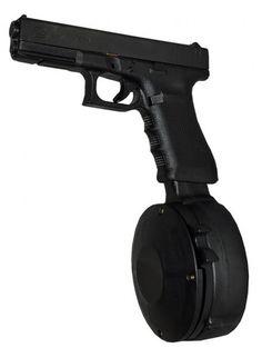 Is Making 50 Rd Drum Magazines For Pistol Caliber Guns The. B T Apc 50 Round Drum Magazine Manufacturing. Emergency Preparedness, Survival, Drum Magazine, 9mm Pistol, Military Guns, Cool Guns, Guns And Ammo, Airsoft, Firearms