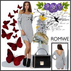 WIN ROMWE Grey Dress