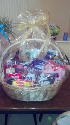 Benefit raffle basket. Naughty date night. Hand cuffs, Crillas gag gift for him