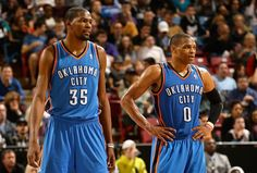 Kevin Durant and Russell Westbrook. The bad boys of OKC