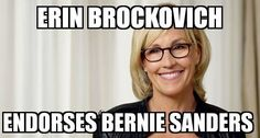 the same erin brockovich who took on corporations against water contamination and is doing it again in Flint michigan
