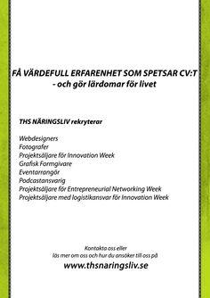 Rekryteringsmaterial - Flyer Baksida