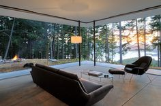 contemporary living room by Gary Gladwish Architecture - San Juan Islands, off the coast of Washington state