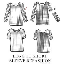 Merrick's Art // Style + Sewing for the Everyday Girl: QUICK FIX FRIDAY: LONG SLEEVE TO SHORT SLEEVE REFASHION