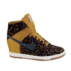 Nike Woman Compensées brown and gold