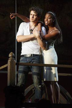 STAR-CROSSED PRODUCTION: Orlando Bloom & Condola Rashad in 'Romeo & Juliet'. Photo: Carol Rosegg