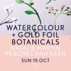 What happens when you cross a Fluro Duo with an Illustrator citing Enid  Blyton, Dr. Seuss and Tim Burton as her greatest influencers?  A bloody fun  collab is what!  Natalie Martin will take you on a Watercolour adventure  using beautiful botanicals as your inspiration - throw to Peaches and Kee