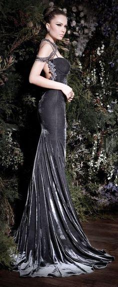 Galia Lahav ~ silver velvet