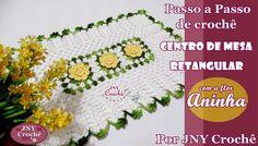 PAP de crochê centro de mesa retangular Flor Aninha https://www.youtube.com/watch?v=1mk5_CDk-l4