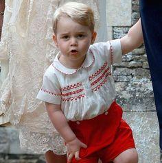 mirror:  Christening of Princess Charlotte of Cambridge, July 5, 2015-Prince George
