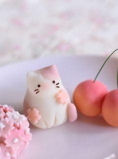 Japanese Wagashi, Japanese Sweets, Japanese Food, Cute Desserts, Dessert Recipes, Cute Baking, Kawaii Dessert, Cafe Food, Aesthetic Food