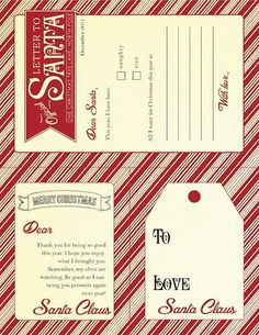 At our house, Santa always leaves thank you notes for the milk and cookies. Here are my favorite Letters from Santa free printable. Free Christmas Printables, Noel Christmas, Christmas Gift Tags, Christmas Wrapping, All Things Christmas, Winter Christmas, Christmas Ideas, Christmas Letters, From Santa Gift Tags