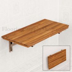 fold down shower bench . Shower Furniture / Teak Shower Bench / Teak Wall Mount Fold-Down Bench Fold Down Desk, Fold Out Table, Drop Down Table, Folding Furniture, Folding Walls, Plywood Furniture, Wall Bench, Wall Desk, Wall Mounted Folding Table