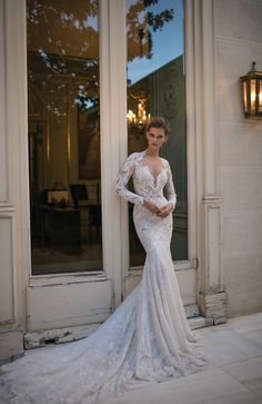 That neckline and train with embellishment, OMG Beautiful! Berta Wedding Dress Collection 2016