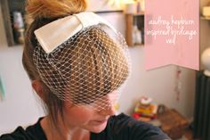DIY tutorial audrey hepburn birdcage veil
