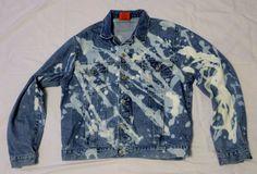 Bleacher Denim Jean Jacket Blue Sz 18 XL Bleached Custom Cotton Big Rock Canyon #BigRockCanyon #BasicJacket