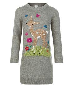 Darcie Deer Dress | Grey | Monsoon