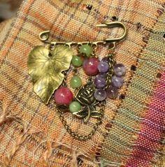 Броши ручной работы. Ярмарка Мастеров - ручная работа Брошь-булавка из натуральных камней Розовое утро. Handmade.