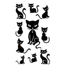 5 Pcs Black Cats Waterproof Temporary Tattoo(10.5cm*20.5cm)HM426