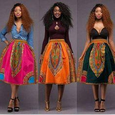 Dashiki skirt, african women's skirt, Angelina style, gathers skirt, By Diyanu African Fashion Designers, African Inspired Fashion, African Dresses For Women, African Print Dresses, African Print Fashion, Africa Fashion, African Attire, African Wear, Fashion Prints