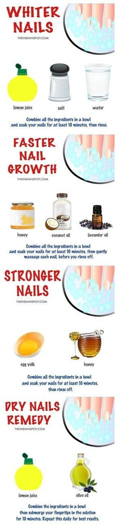 How to get white nails! How to get white nails! Diy Nails Soak, Nail Soak, Dry Nails, Ongles Plus Forts, Ongles Forts, Beauty Care, Beauty Skin, Fast Nail, Diy Beauté