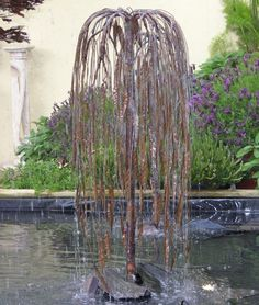 Weeping Willow   Copper Water Sculpture