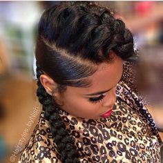 STYLIST FEATURE| This #underbraid updo by #DetroitStylist @HairstylesBy_Nish is giving LIFE This is such a classy protective style❤️ #VoiceOfHair ========================= Go to VoiceOfHair.com ========================= Find hairstyles and hair tips! =========================