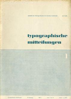 Cover Typographische Mitteilungen, 29. Jahrgang, Heft 1, Januar 1932.