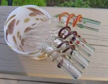 eco friendly reuseable glass straws! $35.99/4