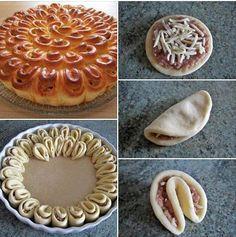Needs to be translated. its some kind of meat pie. Good Food, Yummy Food, Western Food, Arabic Food, Food Crafts, Artisan Bread, Creative Food, Food Design, Food Inspiration