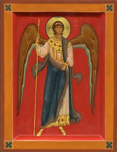 Possibly a Guardian Angel icon. Byzantine Icons, Byzantine Art, Religious Icons, Religious Art, Gabriel, Male Angels, Religious Paintings, Orthodox Icons, Sacred Art