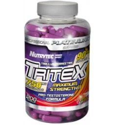 100 cápsulas de Tritex 750 mg. Desarrollo muscular, mejora la resistencia y la recuperación, vitalidad, sistema inmunológico y aumento glóbulos rojos. TRITEX a base de Tríbulus Terrestris proporciona aumento de la fuerza, crecimiento y recuperación muscular, además de mejorar el sistema inmunológico, cardiovascular y sexual.