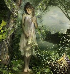 ≍ Nature's Fairy Nymphs ≍ magical elves, sprites, pixies and winged woodland faeries - Fairy Dust, Fairy Land, Fairy Tales, Forest Fairy, Woodland Fairy, Magical Forest, Fantasy World, Fantasy Art, Fantasy Fairies