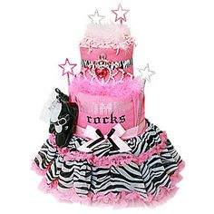 A diaper cake for a rock star!