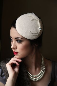 Aoife  1930's style cocktail hat with swarovski by siopaolann, €50.00